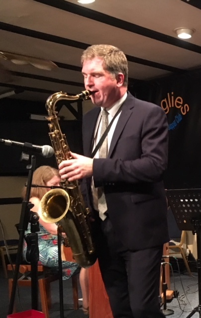 Simon Spillett - Saxophone - playing at Googlies Jazz Club London